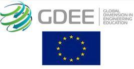 Logotipo del proyecto GDEE y bandera UE