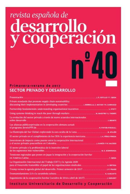 Presentación del Nº 40: Sector Privado y Desarrollo